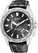 BAND ONLY: Citizen Watch Band Black Crocodile  22MM Part # 59-S52106