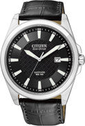 BAND ONLY: Citizen Watch Band Black Leather 22MM Part # 59-S52213