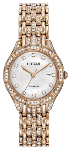 BAND & PINS COMBO: Citizen Watch Bracelet Rose Gold Tone Stainless Steel Part # 59-R00377 With Band to Case Pins