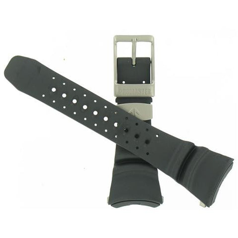 BAND ONLY: Citizen Watch Band Black Rubber Specialty Part # 59-T50176
