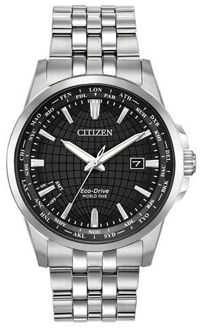BAND & PINS COMBO: Citizen Watch Silver Tone Stainless Steel Part # 59-S07236 With Band to Case Pins