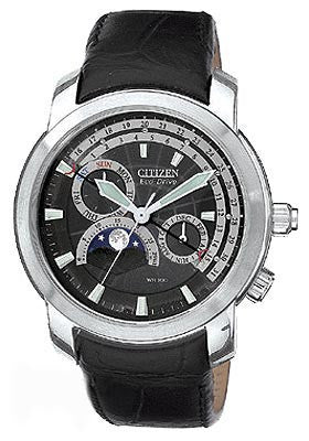 BAND ONLY: Citizen Watch Band Black Leather 20MM Specialty Part # 59-S0785