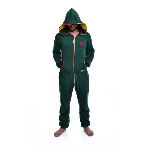 Bottle Green & Red & Yellow Inye Onesie