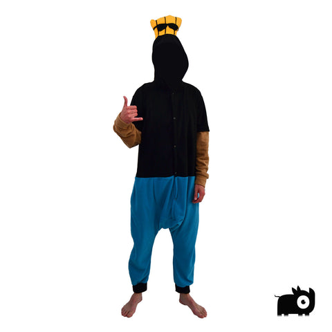 Cool Guy Onesie (black/blue) inspired by Johnny Bravo