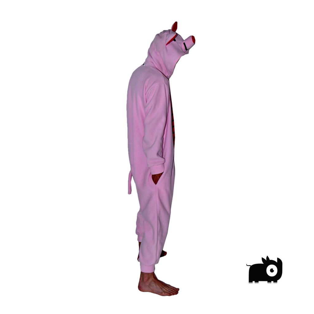 Pig Onesie (pink/red) inspired by Piglet