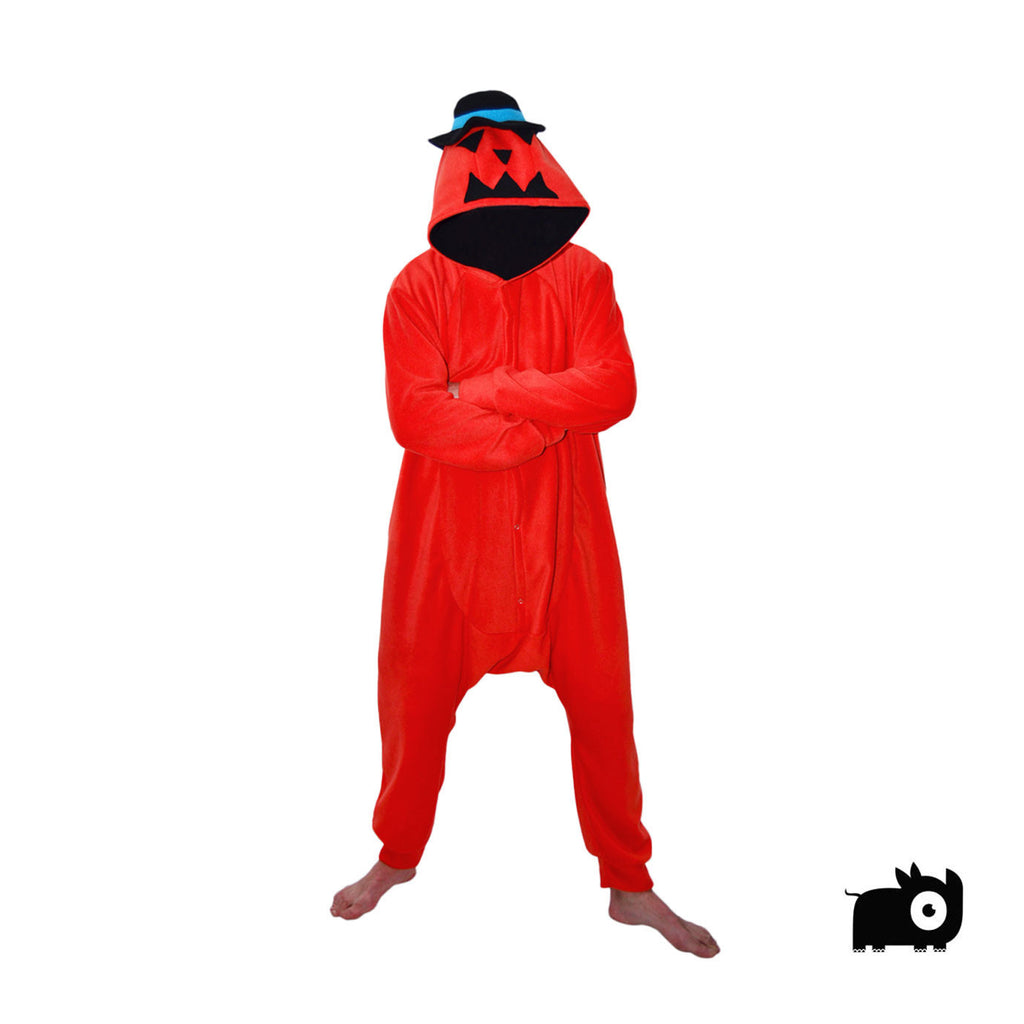 Halloween Pumpkin Head Onesie (orange)