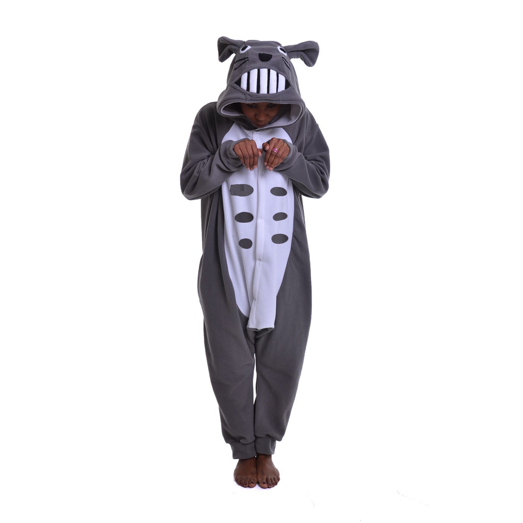 Rodent Onesie (grey/white) inspired by Totoro