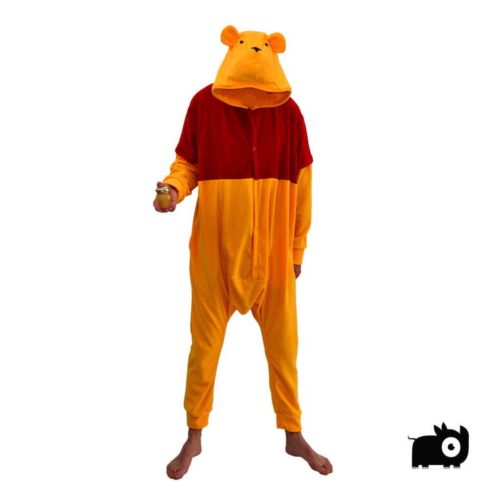 Teddy Bear Onesie (yellow/red) inspired by Winnie the Pooh