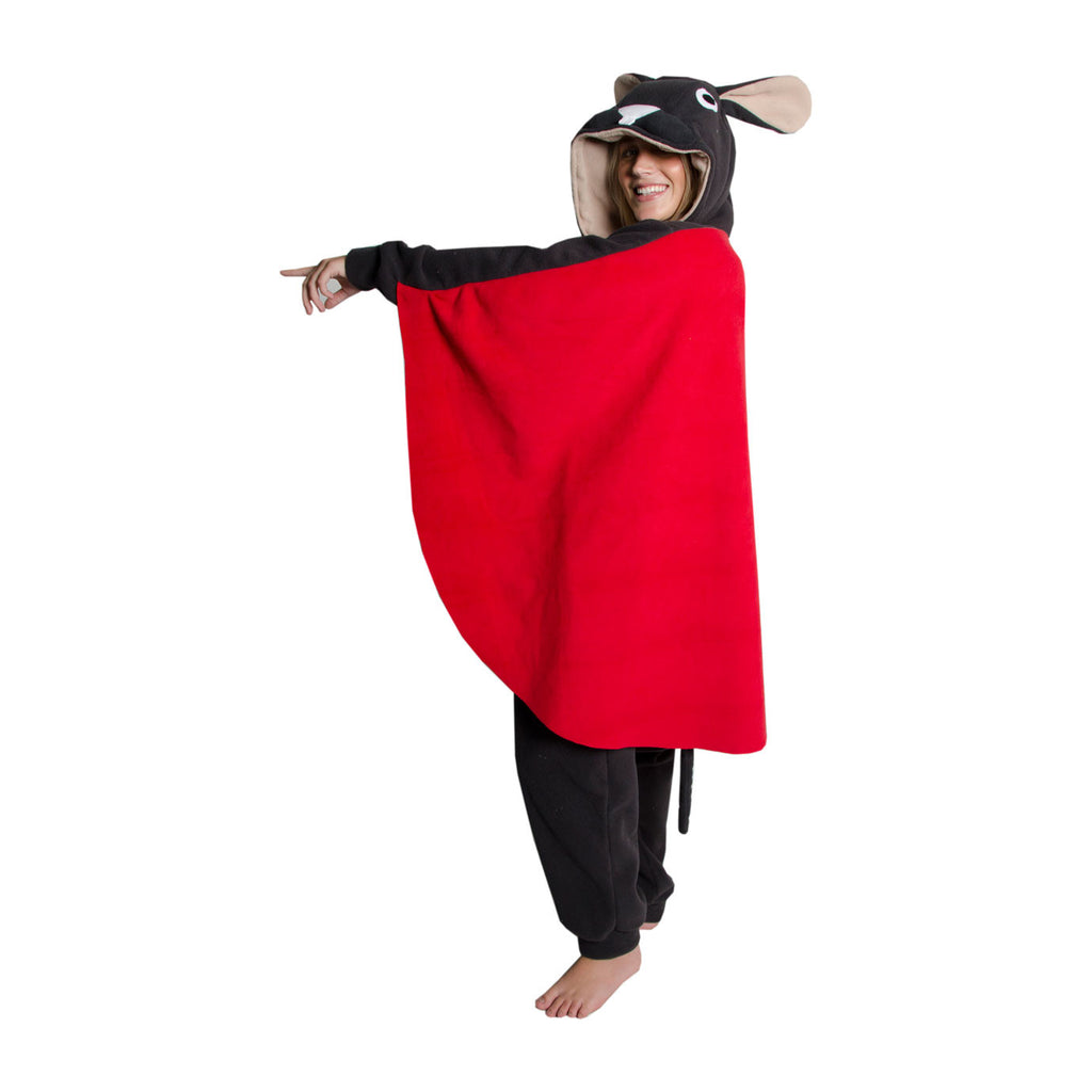 Flying Squirrel Onesie (charcoal/beige)
