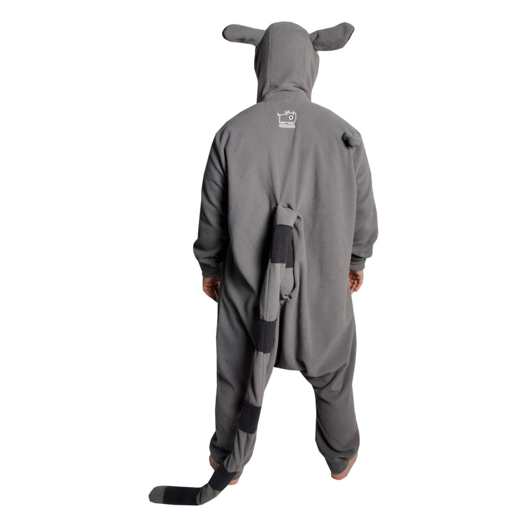 Lemur Onesie (grey/charcoal)