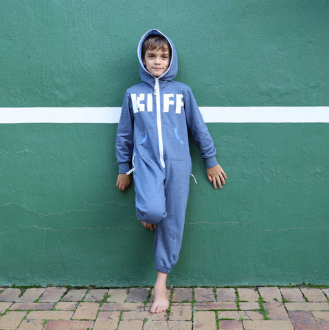 KIFF Kids Inye Onesie - aFREAKa X The Kiffness colab (Airforce Blue)