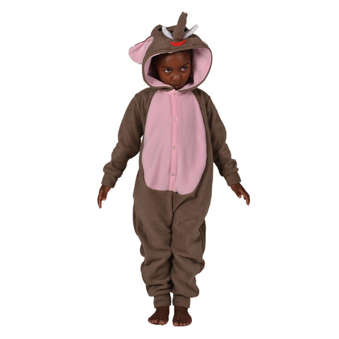 Elephant Onesie (grey/pink): KIDS