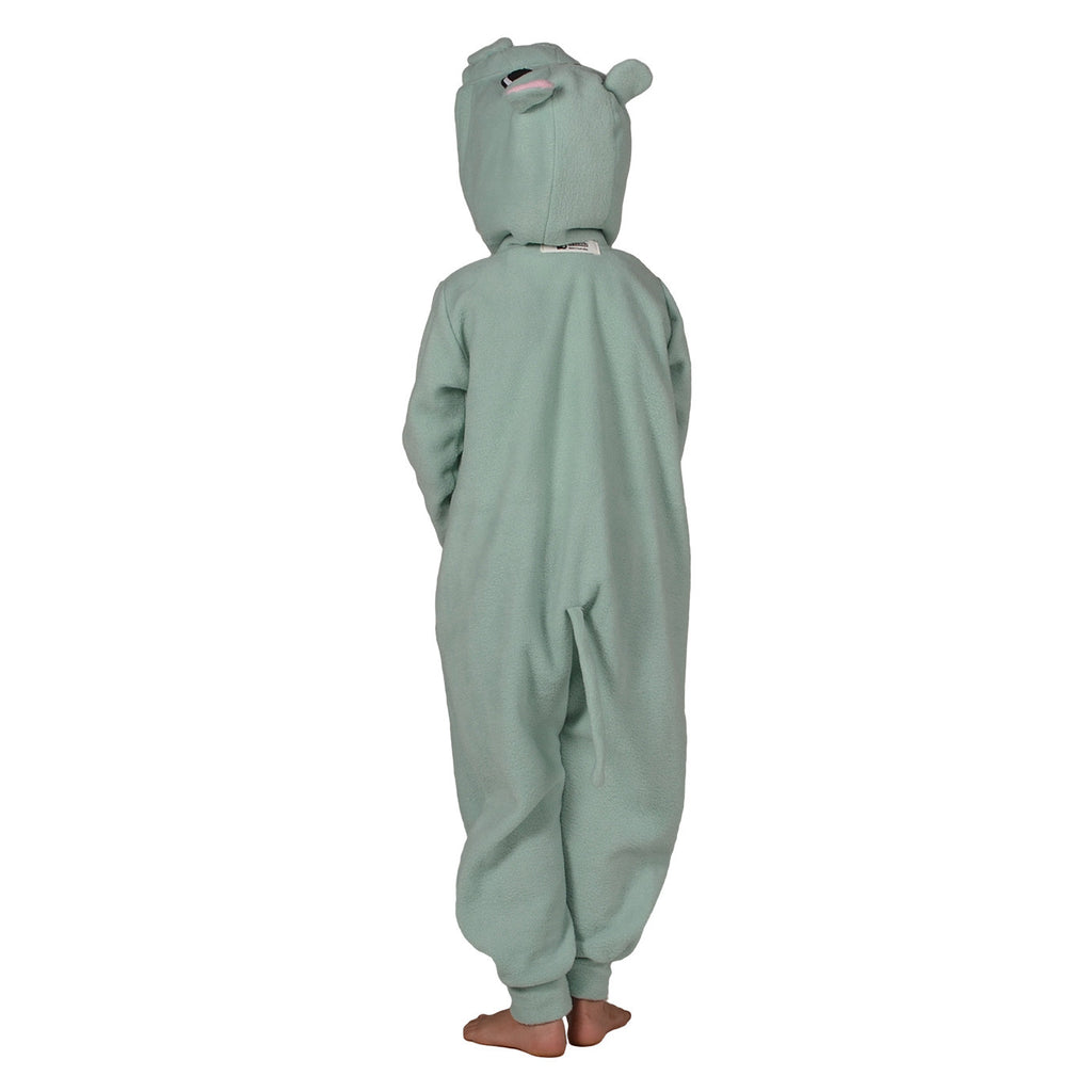 Hippo Onesie (mint green/pink): KIDS