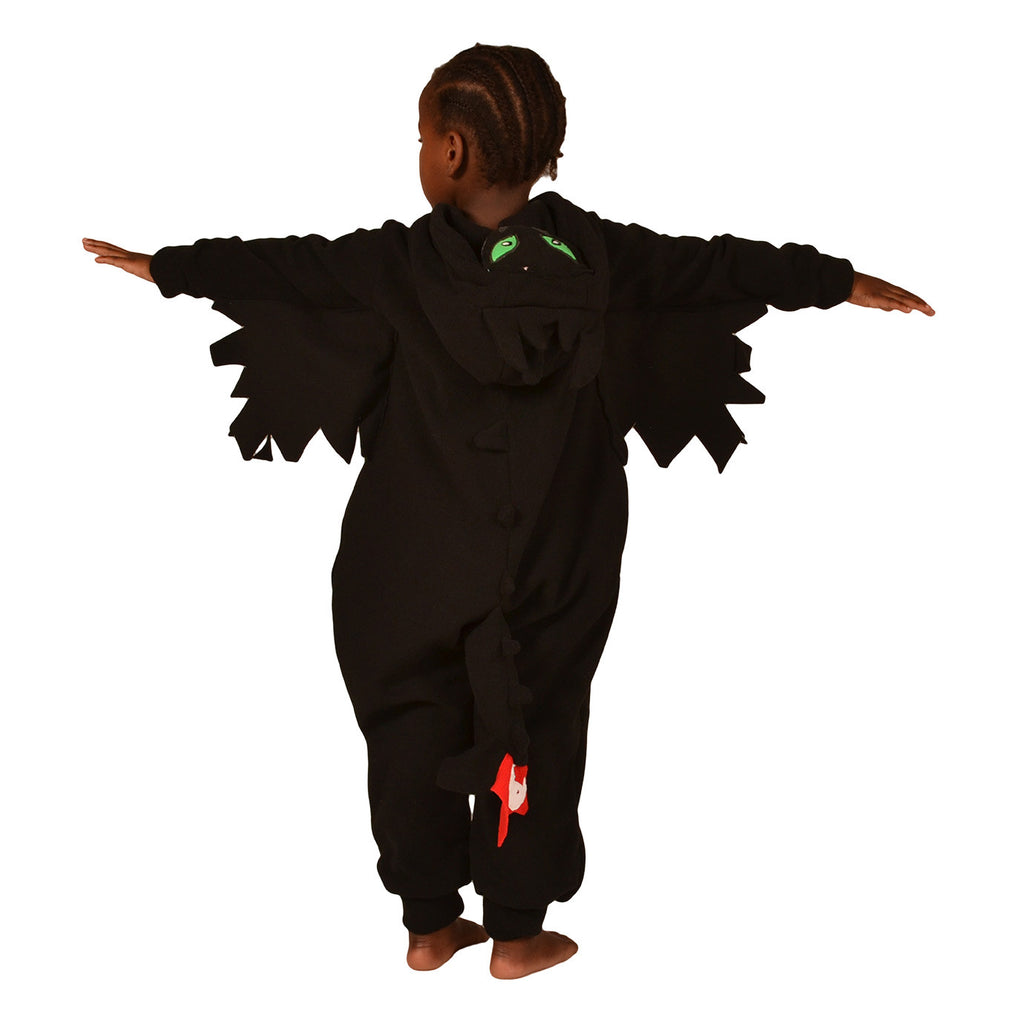 Black Dragon Onesie (black): KIDS inspired by Toothless