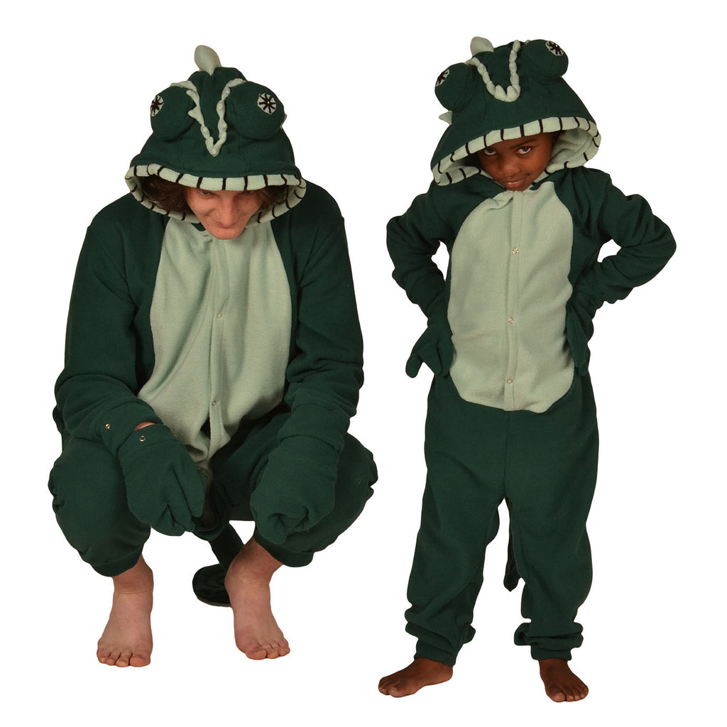 Chameleon Onesie (bottle green/mint green)