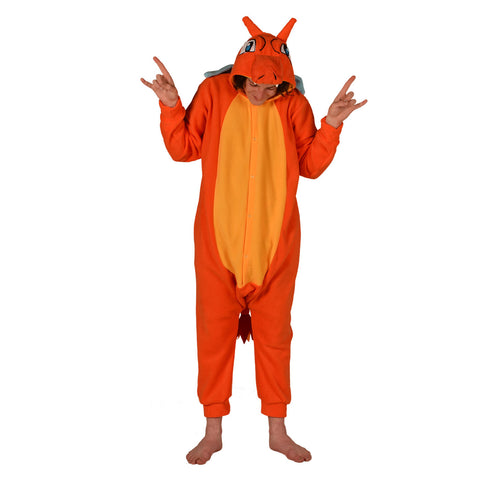Dragon Poke em on Onesie (orange/yellow) inspired by Charizard