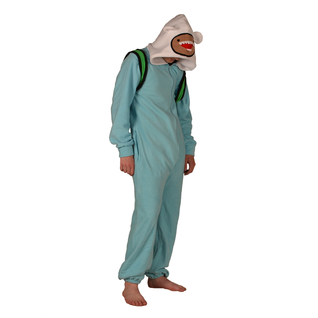 Adventure Man Onesie (turquoise/white) inspired by Finn the Human