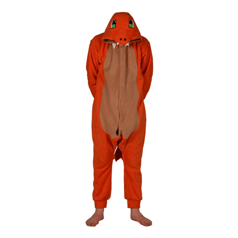 Fire Dragon Poke em on Onesie (orange/beige) inspired by Charmander