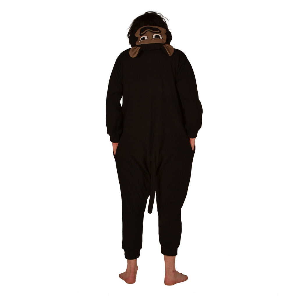 Gorilla Onesie (black/grey)