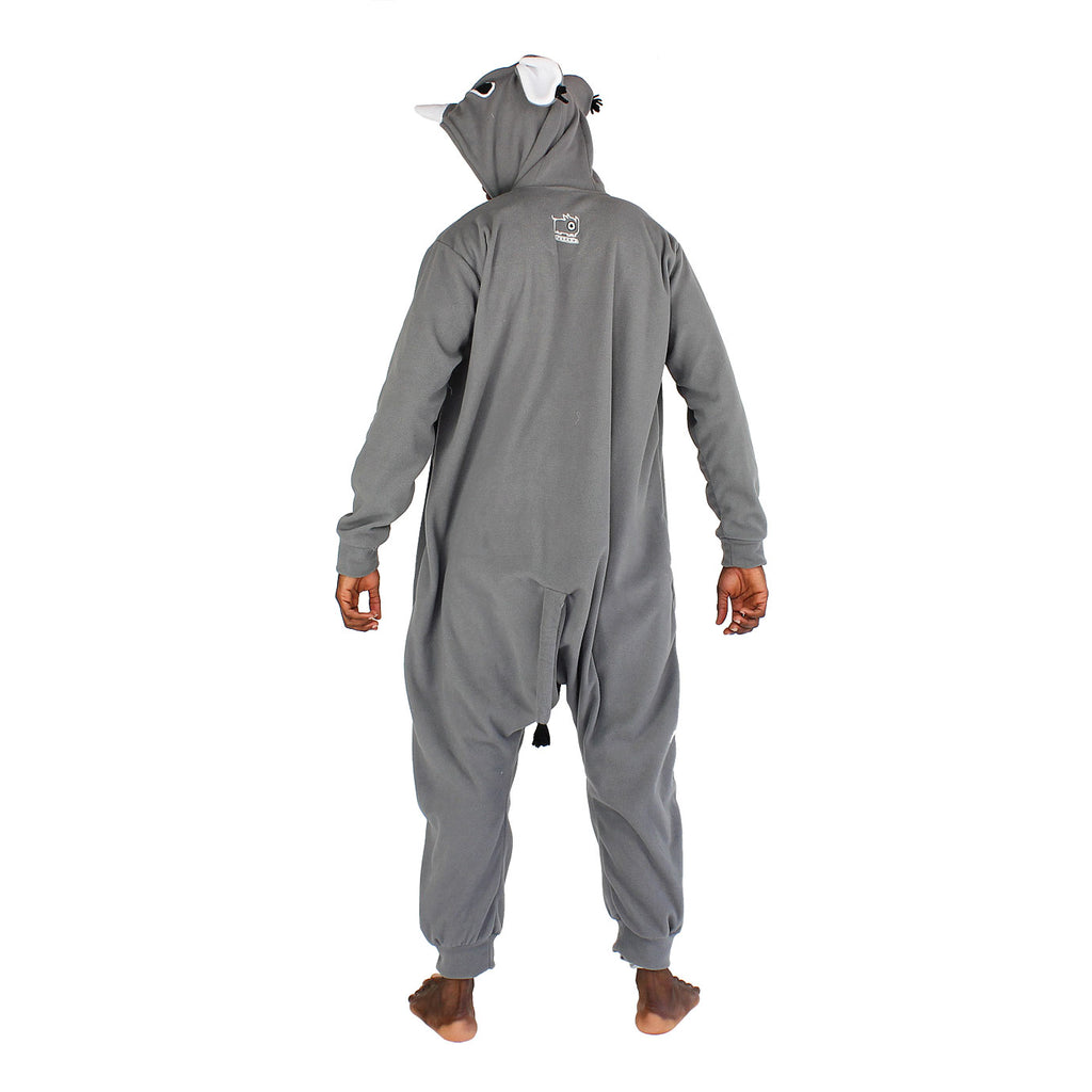Rhino Onesie (grey/white): KIDS