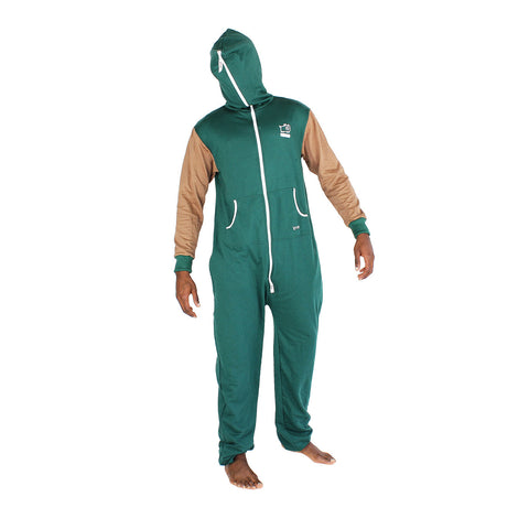 Bottle Green & Brown Inye Onesie