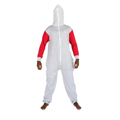 Grey & Red Inye Onesie