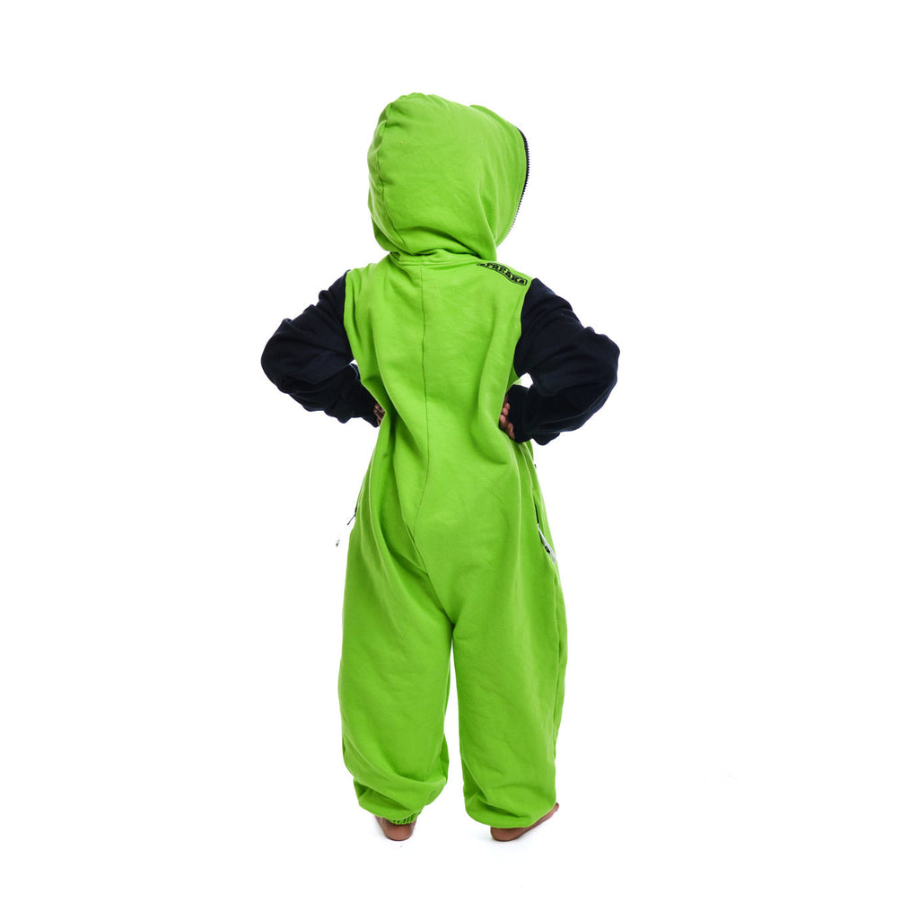 Lime Green & Black Inye Onesie