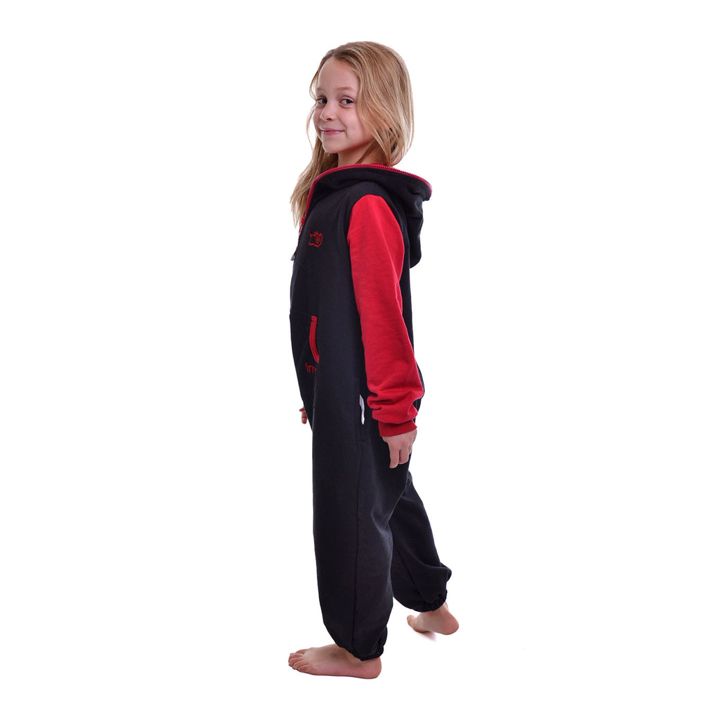 Black & Red Inye Onesie