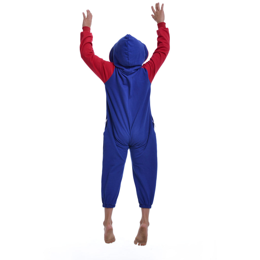 Blue & Red Inye Onesie