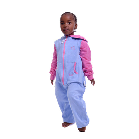 Light Blue & Pink Inye Onesie