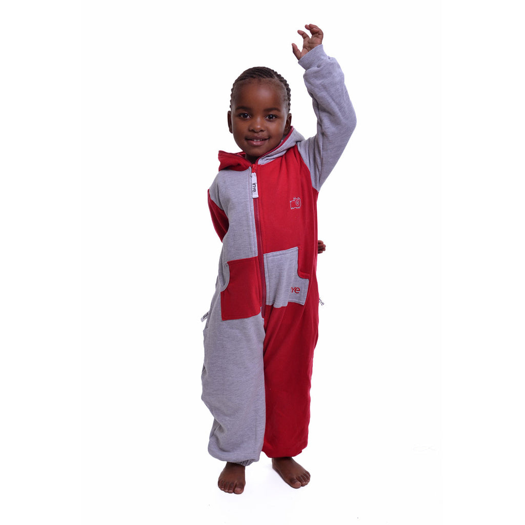 Grey & Red Inye Onesie (Harlequin)