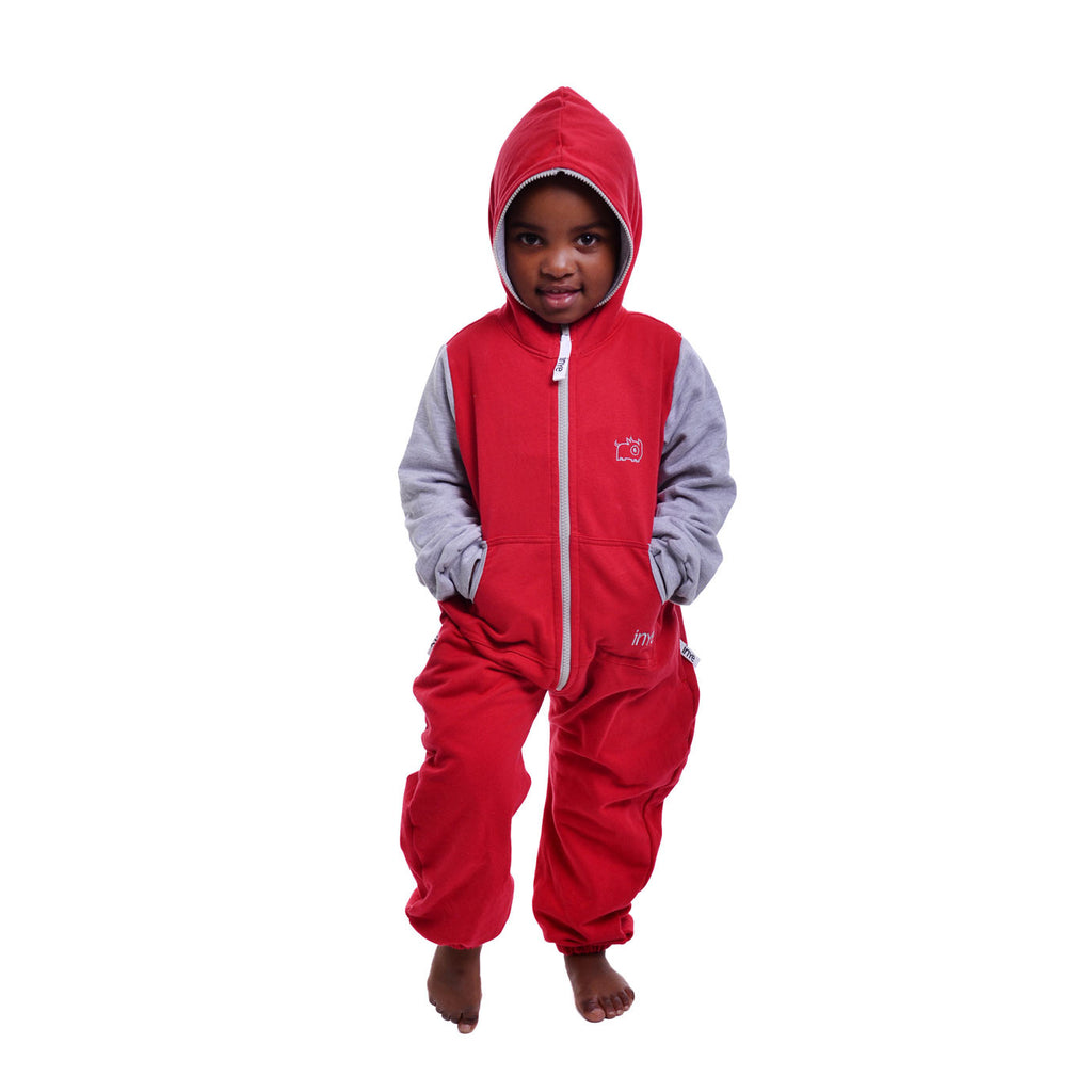 Red & Grey Inye Onesie