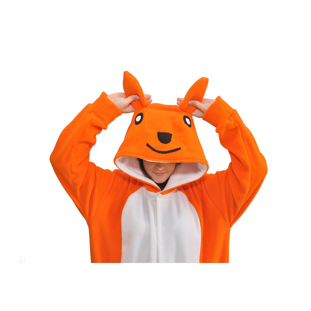 Kangaroo Onesie (orange/white)