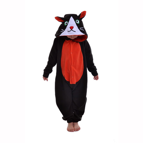 Cat Onesie (black/orange): KIDS