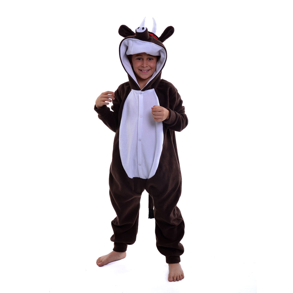 Buffalo Onesie (brown/white): KIDS