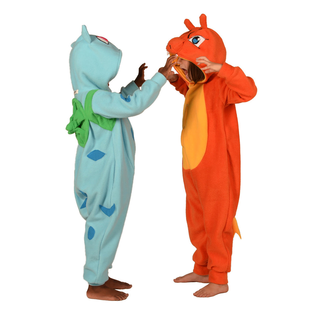 Dragon Poke em on Onesie (orange/yellow): KIDS inspired by Charizard