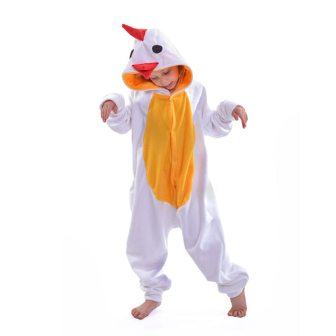 Chicken Onesie (white/yellow): KIDS