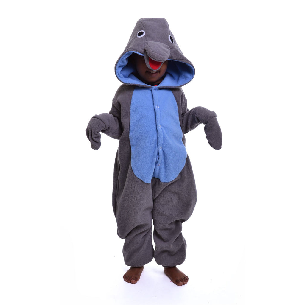 Dolphin Onesie (grey/blue): KIDS