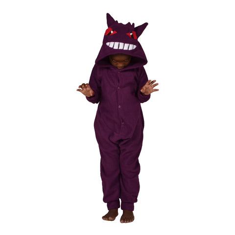 Purple Monster Poke em on Onesie (purple): KIDS inspired by Gengar
