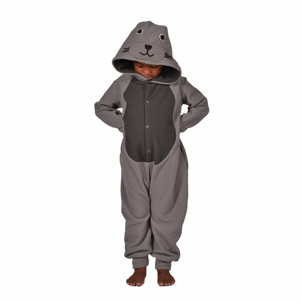 Seal Onesie (grey/charcoal): KIDS
