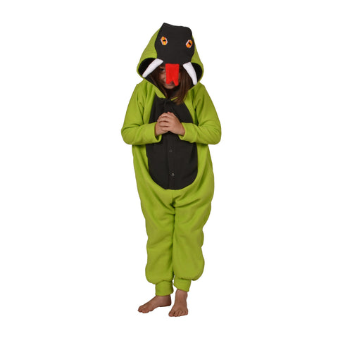 Snake Onesie (lime green/charcoal): KIDS