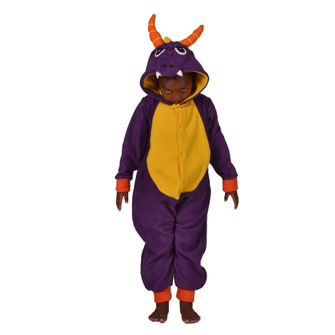 Purple Dragon Onesie (Purple/Yellow): KIDS inspired by Spyro the dragon