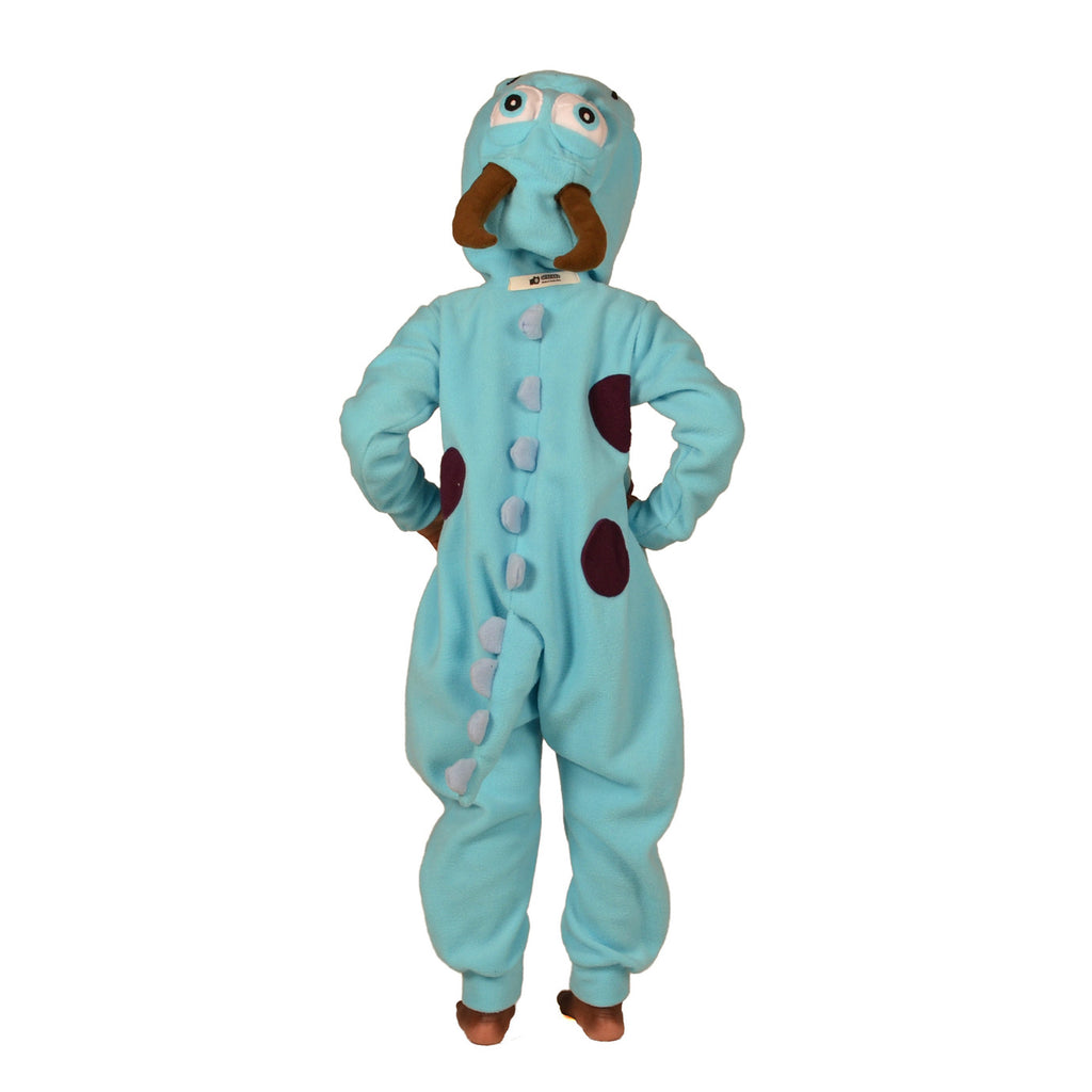 Blue Happy Monster Onesie (blue/blue): KIDS inspired by Sully from Monsters Inc