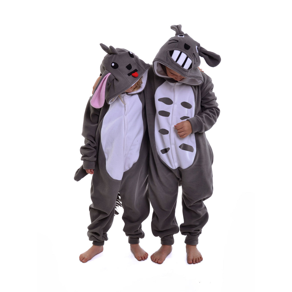 Rodent Onesie (grey/white): KIDS inspired by Totoro