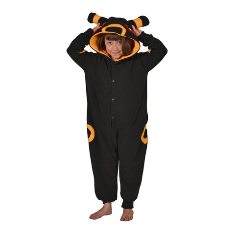 Black Poke em on Onesie (black/yellow): KIDS inspired by Umbreon