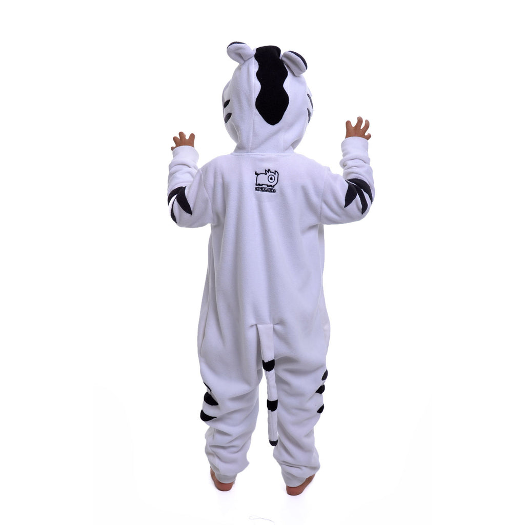 White Tiger Onesie (white/black): KIDS