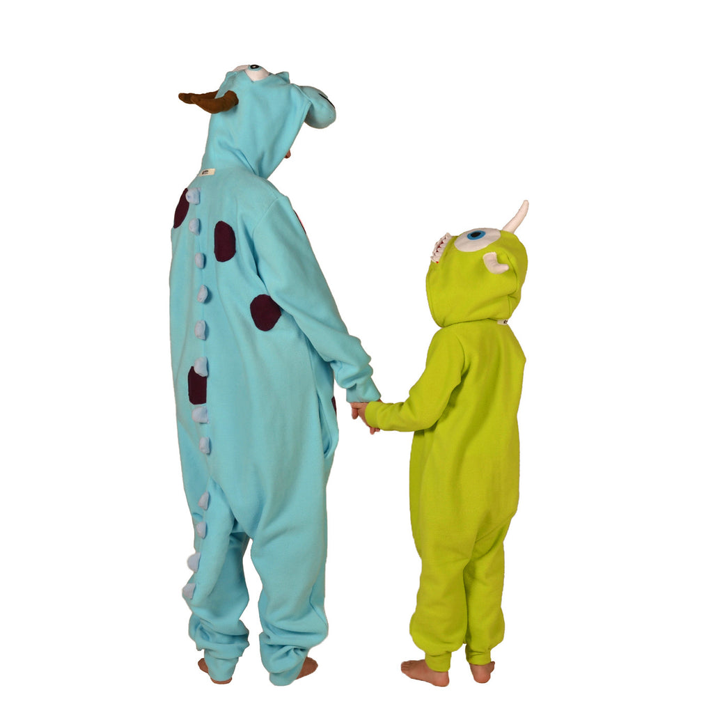 Blue Happy Monster Onesie (blue/blue) inspired by Sully from Monsters Inc