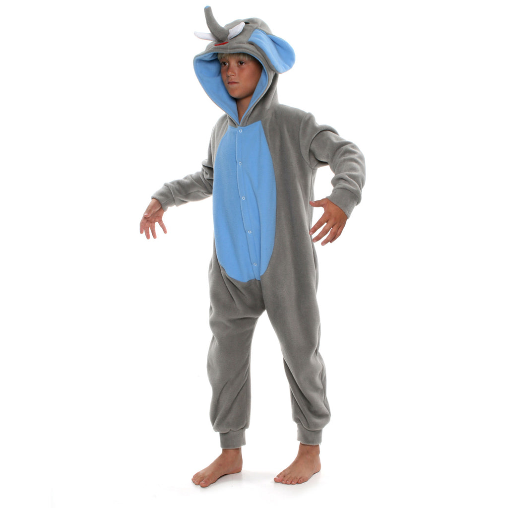 Elephant Onesie (grey/blue): KIDS