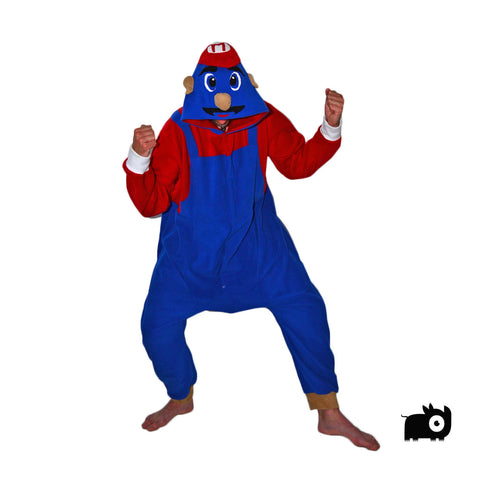 Red Handyman Onesie (blue/red) inspired by Mario from Mario Bros