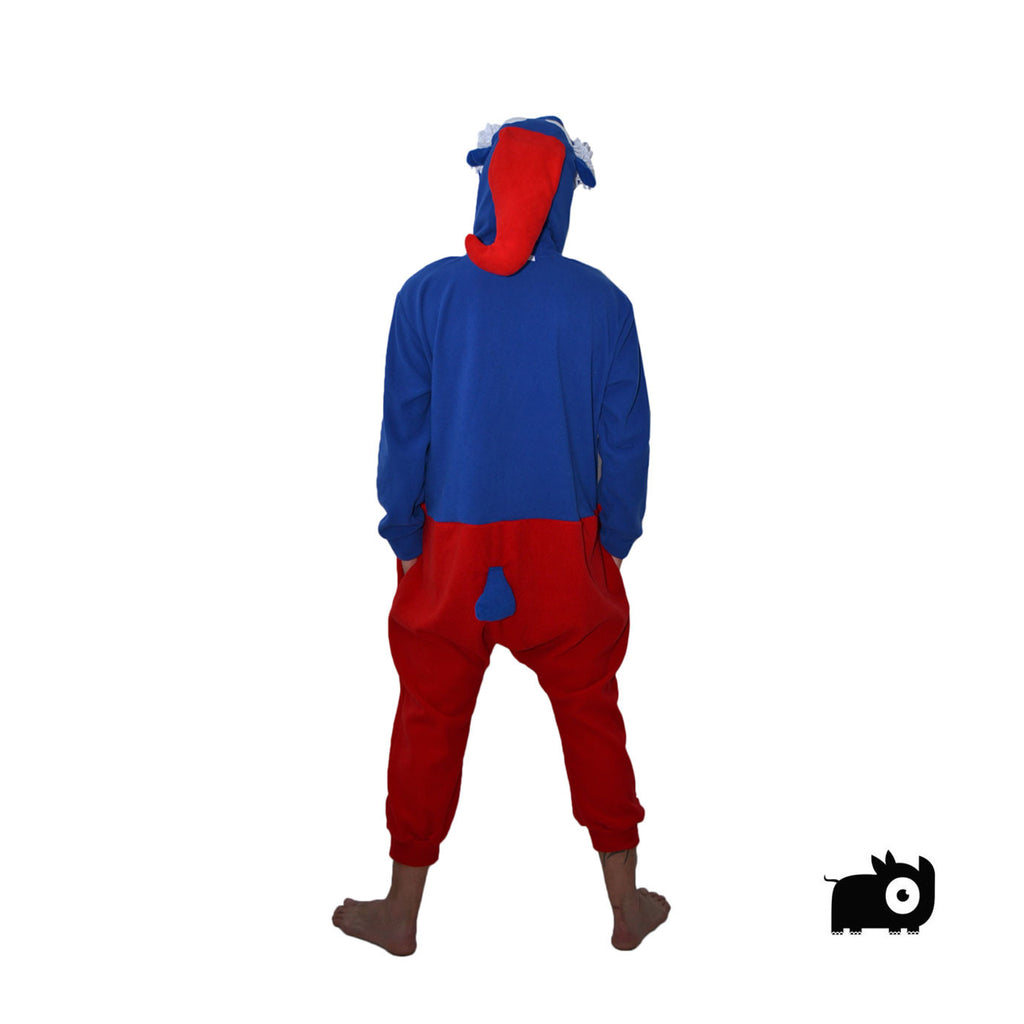 Blue & Red Gnome Onesie (blue/red) inspired by Papa Smurf